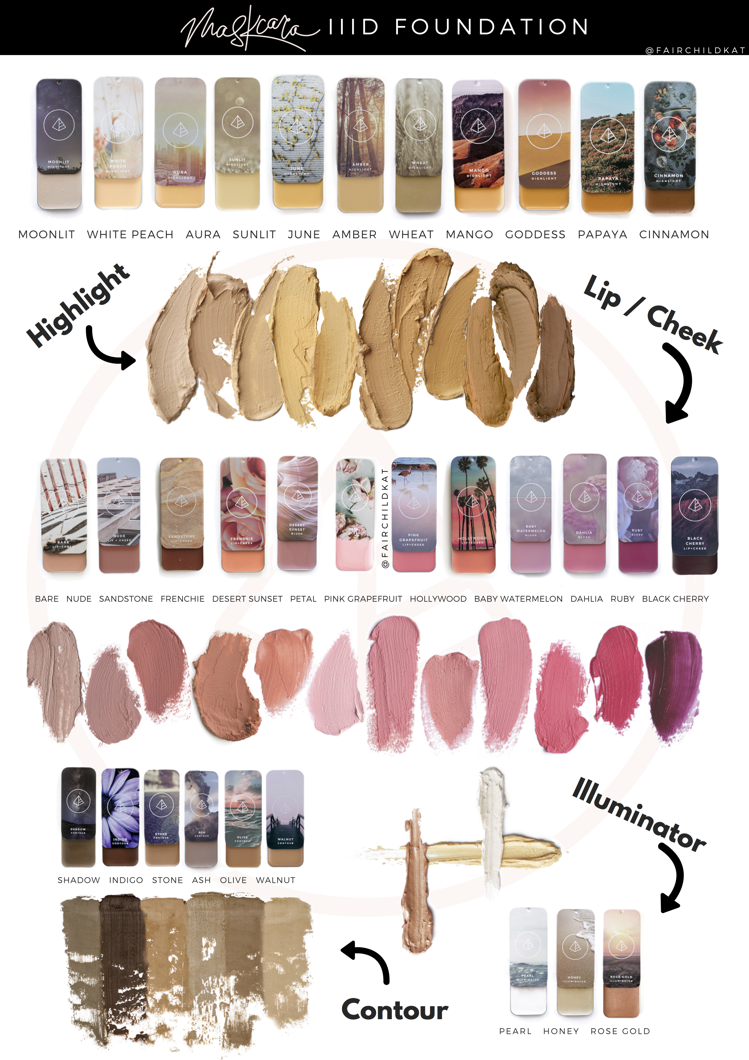 full color swatch line from maskcara � kat fairchild